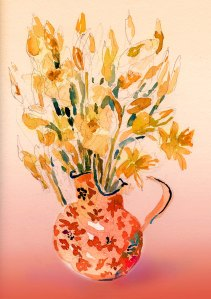 daffodils in vase ps 5X7