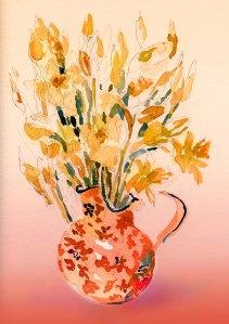 daffodils in vase ps 5X7